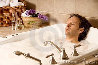 Man in a bath