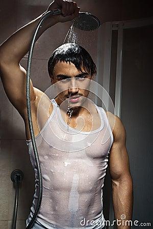 Man bathing