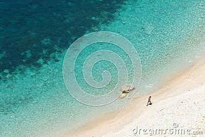 Man on a beach