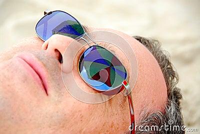 Man beach relax