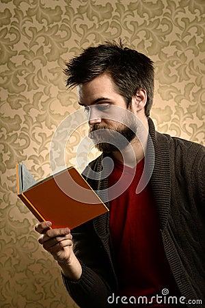 Man With Beard Reading