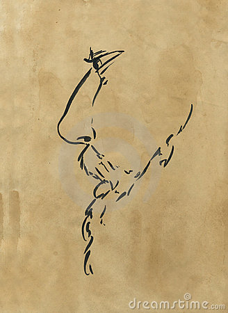 Man with beard artwork