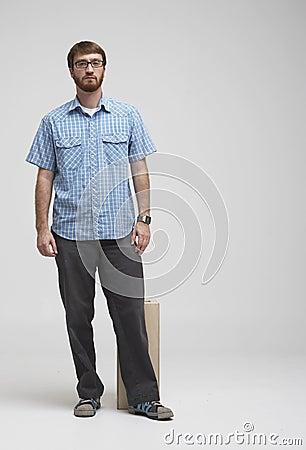 Man with beard standing in studio 02