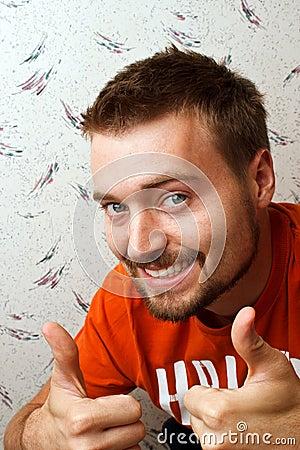 Man Beard Thumbs Up