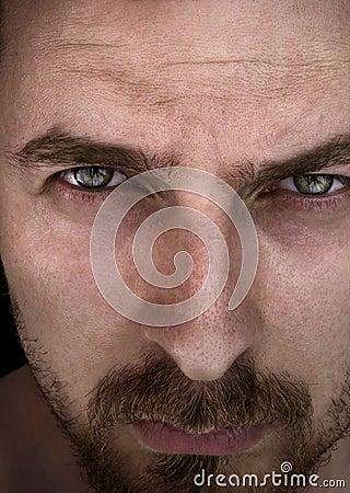 Man with beautiful deep eyes