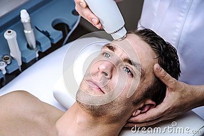 Man in a beauty clinic