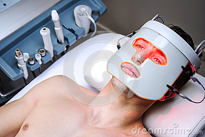 Man in a beauty clinic