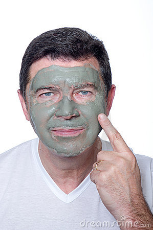 Man with beauty mask
