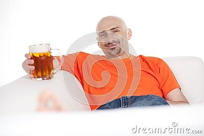 Man with beer mug