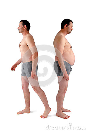 Free Man Before And After Diet Royalty Free Stock Photo - 41537795