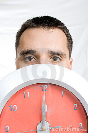 Man Behind Clock