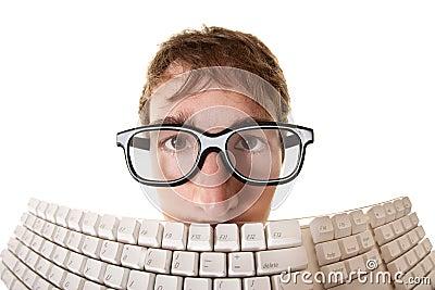 Man Behind Keyboard
