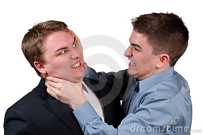 Man Being Strangled