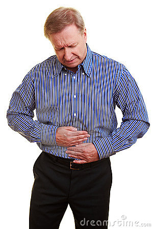 Man with bellyache