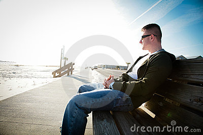 A Man on a Bench