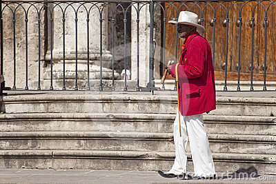 The man with big cigar, havana Editorial Photography