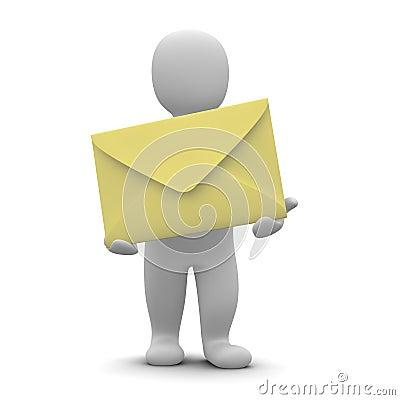 Man and big envelope