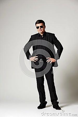 Man in black formal wear