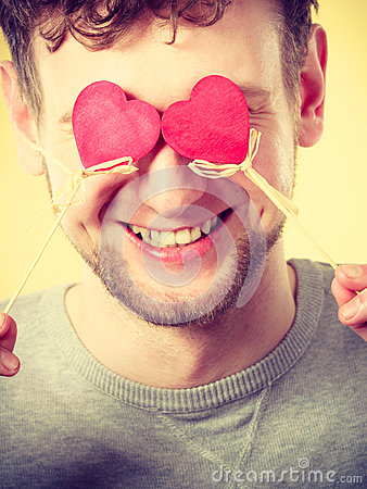 Free Man Blinded By Love. Royalty Free Stock Photography - 84853577