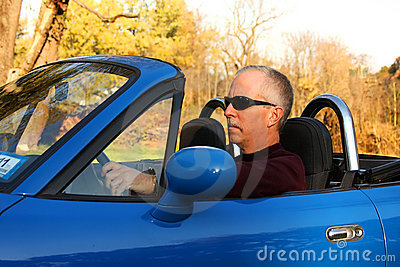 Man in a Blue Convertible