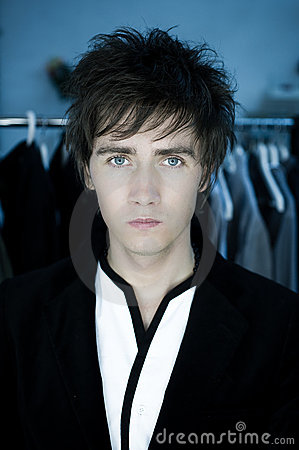 Man with blue eyes