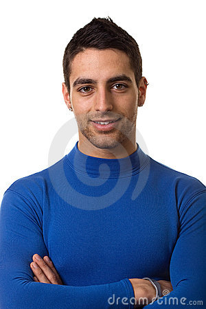 Man in Blue Shirt