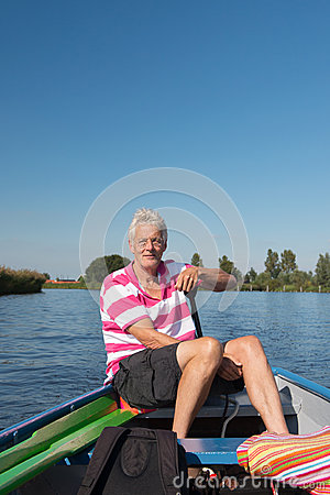 Man in boat at the river