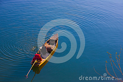 Man on a boat in Vietnam Editorial Stock Photo