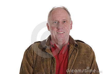 Man in Bomber Jacket Smiling