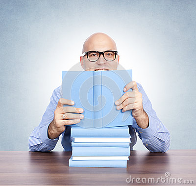 Man with the books