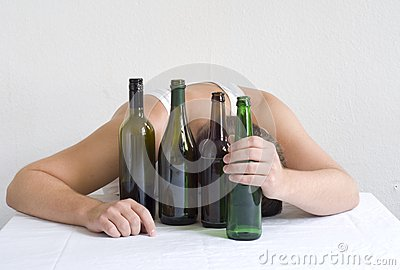 Man with bottles