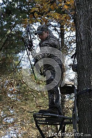 Man Bow Hunting