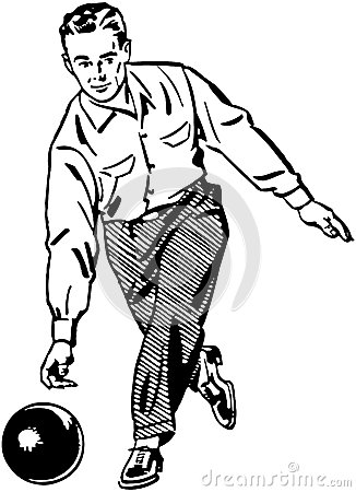Free Man Bowling 2 Royalty Free Stock Images - 42096489