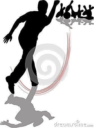 Free Man Bowling Stock Images - 987564
