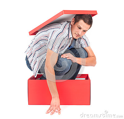 Man In The Box Royalty Free Stock Images - Image: 27807219