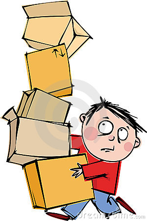 Man with a boxes