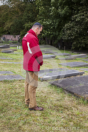 Free Man By Jewish Cemetery Royalty Free Stock Photography - 34648747