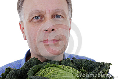 Man with cabbage