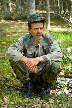 Man in Camouflage 20