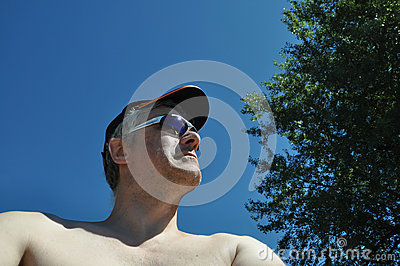 Man with cap