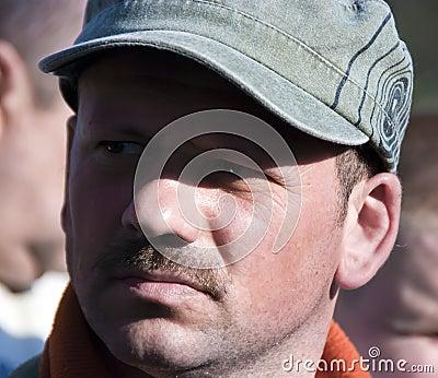 Man in a cap portrait