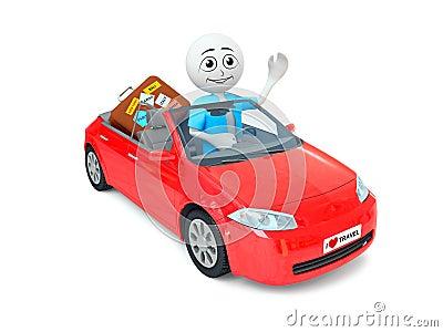 Man in car