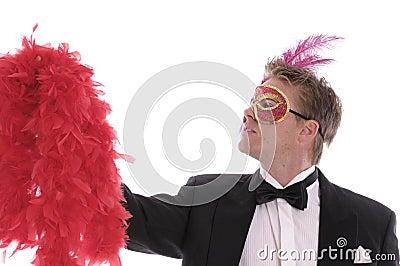 Man in carnival mask