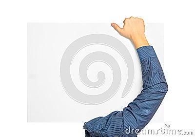 Man carry blank board