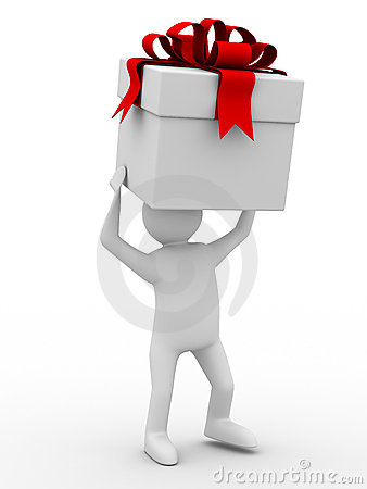 Man carry white box