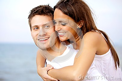 Man Carrying His Girlfriend on His Back