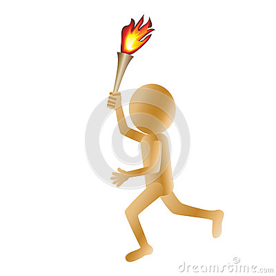 Man carrying torch
