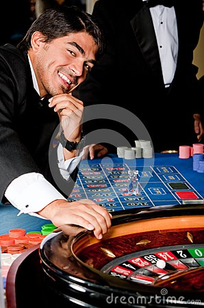 Man in a casino