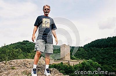 Man on Castle Hill
