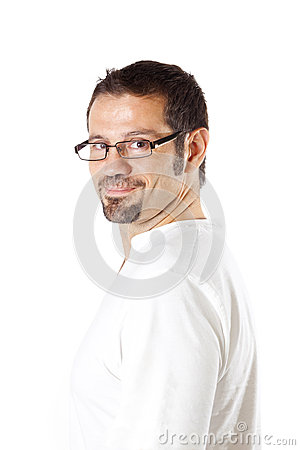 Man with casual goatee